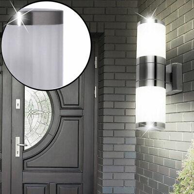 4er Set LED in ACCIAIO INOX PARETE FARETTO LAMPADE balcone luci illuminazione esterno