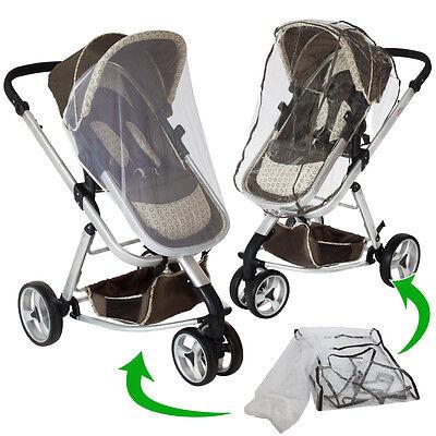 3 in 1 Kinderwagen Kombikinderwagen Buggy Babyjogger Reisebuggy Sportwagen braun