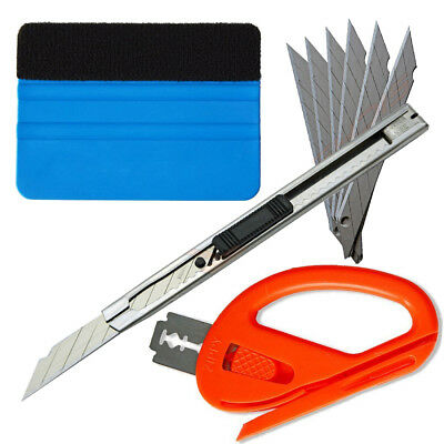 Knifeless Finish Line Tape  Squeegee Knife 10 Blades Vinyl Car Wrapping Tools US 2