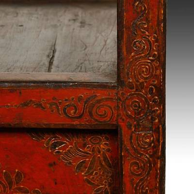 Rare Antique Buddha Stand Altar Painted Pine Tibet Chinese Furniture 19Th C. 8