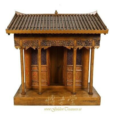 19 Century Antique Chinese Wooden Carved Altar/Buddha House/Shrine 8