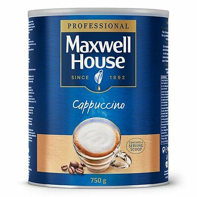 Maxwell House Instant Cappuccino 2 x 750 g Tin 3