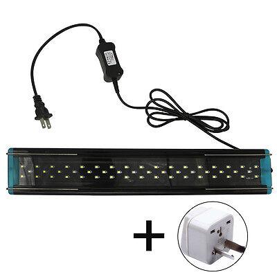 4W 6W 8W Adjustable Aquarium Fish Tank LED Light Over Head White & Blue Model 5