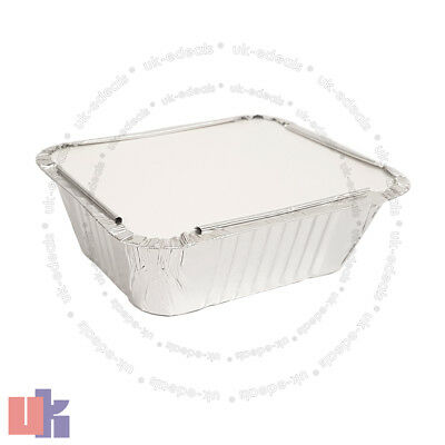Aluminium Foil Hot Food Containers Box With Lids Perfect For Home Takeaway Use 5