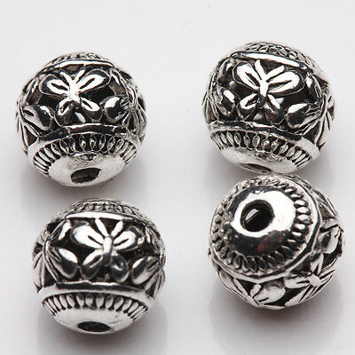 Wholesale 10/20Pcs Tibetan Silver Hollow Butterfly Charm Spacer Loose Beads 8mm 2