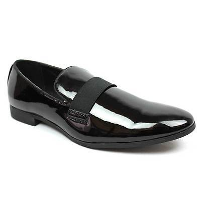 New Men's Black Slip On Patent Leather Tuxedo Formal Event Dress Shoes By AZAR 4