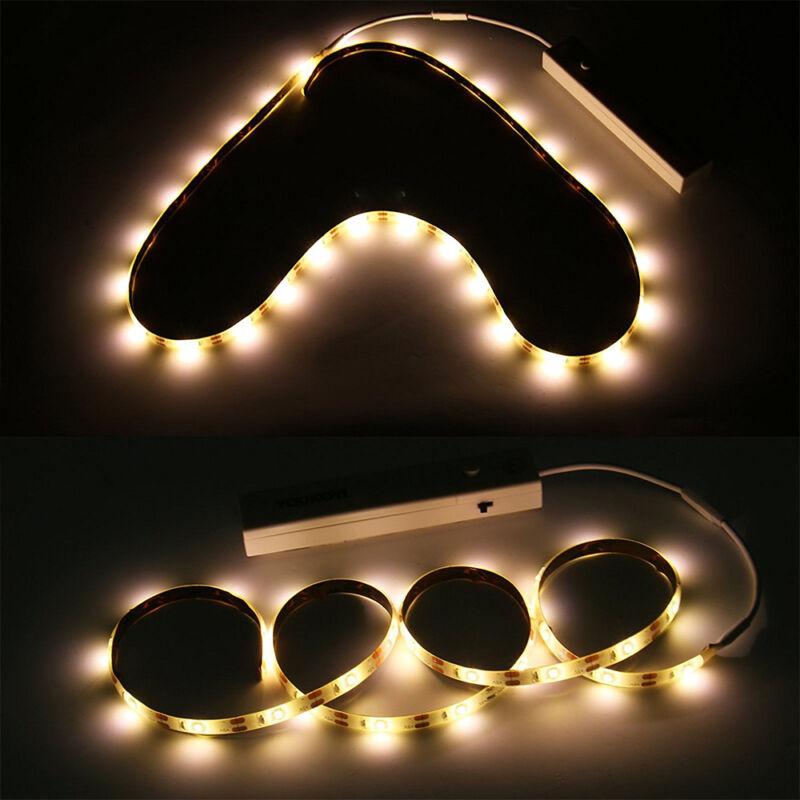 1-5m LED Stripe mit PIR-Bewegungsmelder Lichtband Streifen Batteriebetrieb Band 7