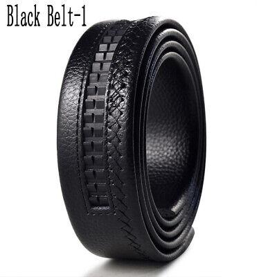 Luxury Men's Automatic Buckle Belts Ratchet Genuine Leather Belt Strap Waistband 12