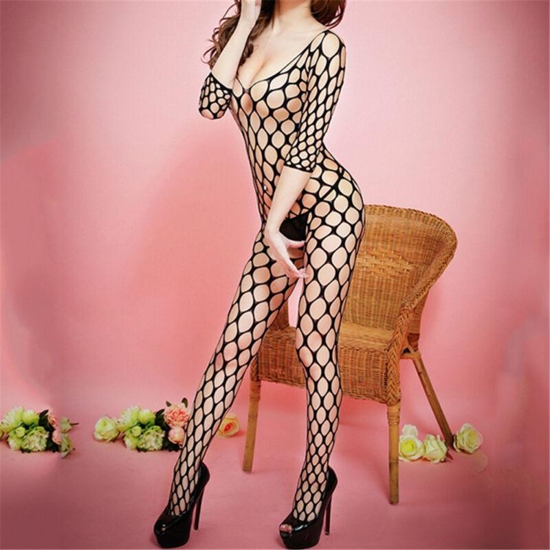 One Size  Sexy Wild Mesh Fishnet  Whole Body Black Stockings Clothing Underwear 3