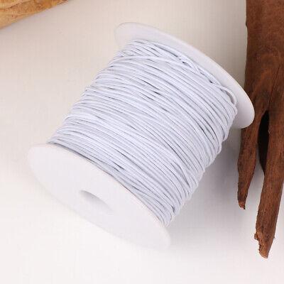 100M Rond Cordon Élastique Bande Couture Blanc pour Coudre Artisanat DIY 6