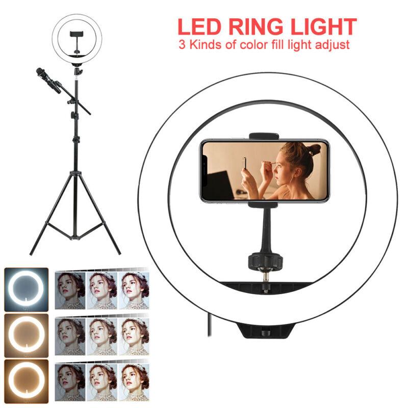 Studio 160 LED Ring Light con supporto Dimmable Photo lampada video fotocamer 2
