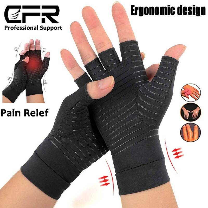 Arthritis Gloves Compression Support Hands Pain Copper Sleeve Carpal Tunnel Grip 5