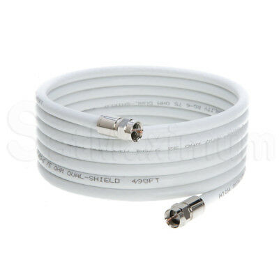 Coaxial Antenna Cable Extension Coax HDTV Wire Double Shielded Patch Cord - LOT 12