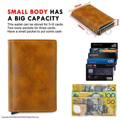 RFID Blocking Leather Credit Card Holder Case Money cash Wallet Clip Purse OZ 5