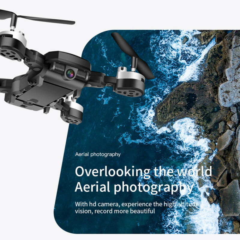 DRONE QUADRICOTTERO FPV CAMERA REAL TIME WiFi 1080P PORTATILE RICARICABILE 4