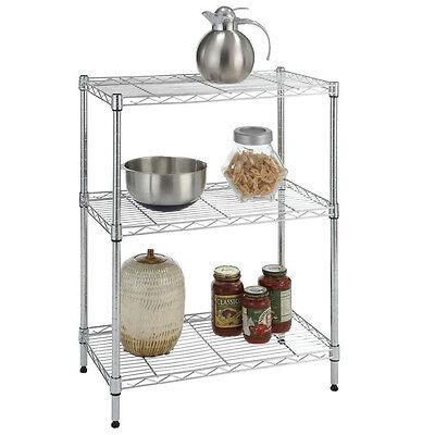4/5 Tier Storage Rack Organizer Kitchen Shelving Steel Wire Shelves Black/Chrome 6