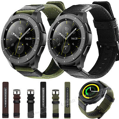 20mm 22mm Nylon Fabric Sport Watch Band Replacement Quick Release Wrist Strap 2