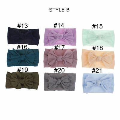 Baby Nylon Soft Bow Head Wrap Turban Top Knot Headband Newborn Girl Accessories 5