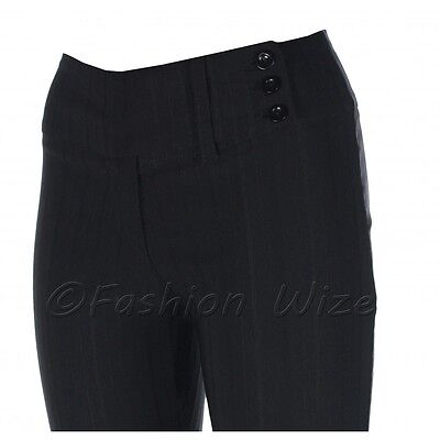 Girls Black Grey Navy School Trousers Sizes 4-16 Miss Sexies Miss Chief Bootcut 5