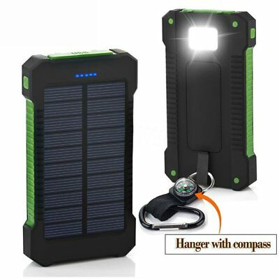 50000mah Solar Power Bank 2 LED 2 USB Waterproof Battery Charger for Cell Phone 5