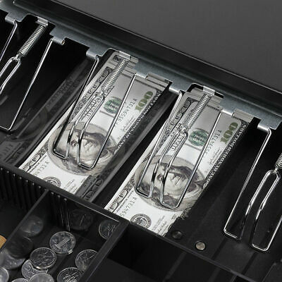 Manual/Electronic Heavy Duty Cash Drawer Cash Register POS 5 Bills 5 Coins Tray 6