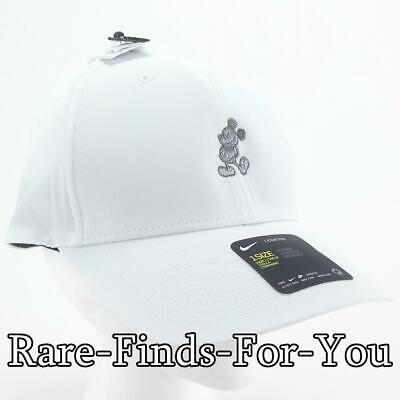 Disney Parks Nike Dri Fit Mickey Mouse White Grey Golf Baseball Cap Hat NEW/TAGS 5
