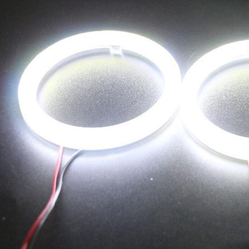 Universal 60LED 70mm Auto COB Angel Eyes Warning Headlight Halo Ring Drving Lamp 10