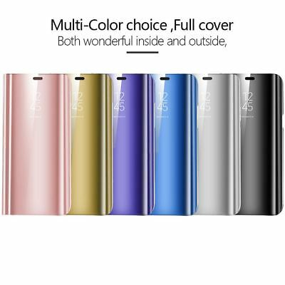 Smart View Mirror Leather Flip Stand Case Cover For Huawei P20 Pro Lite Plus P10 11