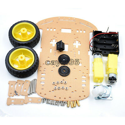 Avoidance Tracking Motor Smart Robot Car Chassis Kit 2WD Ultrasonic Arduino UK 2