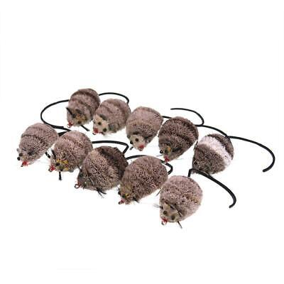 10x Deer Hair Mouse Flies Fishing Floating Lure Hook #2//0 Bass Perch Pike Trout