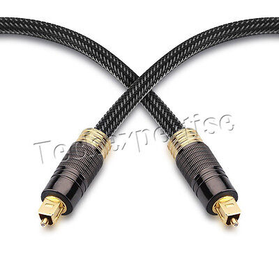 Black Premium Toslink Optical Fiber Cable S/PDIF 5.1 7.2 Digital Audio 0.5m~30m