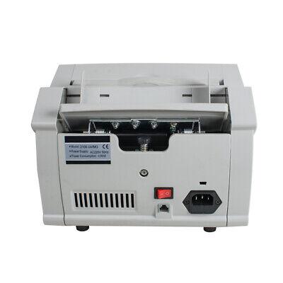 Money Bill Counter Machine Cash Counting Bank Counterfeit Detector Checker UV MG 8