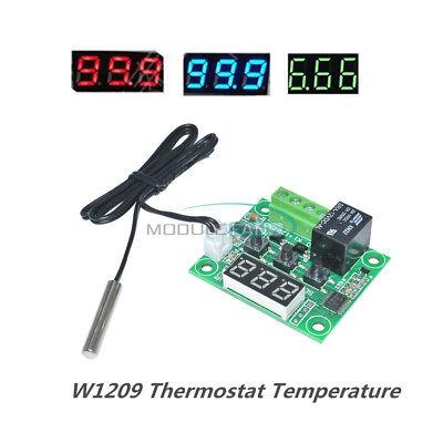 -50-110°C W1209 Digital thermostat Temperature Control Switch 12V + Sensor 2