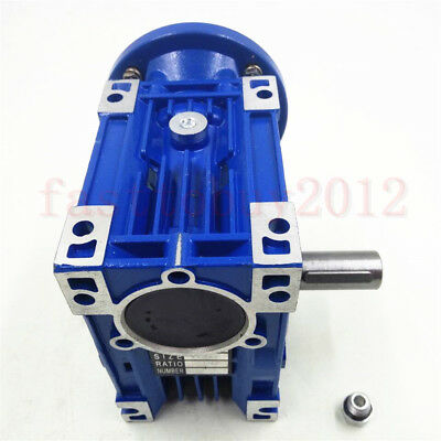 Worm Gearbox 56B14 Flange Reducer 10:1 15:1 30:1 Stepper Asynchronous Motor 3