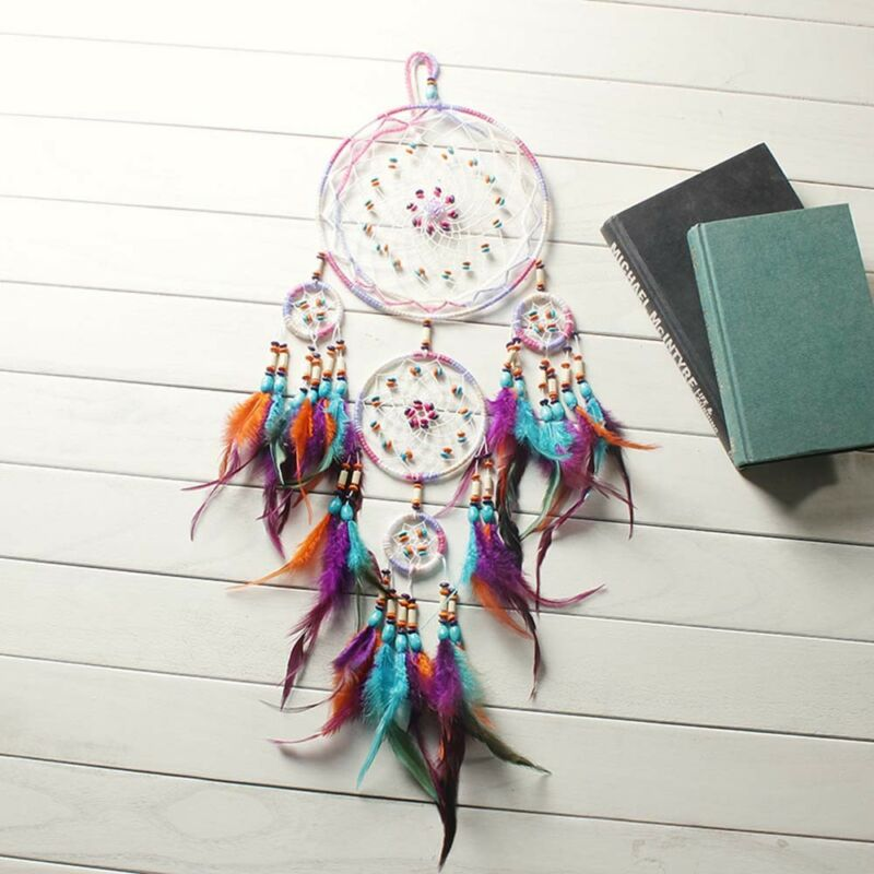 Beautiful Handmade Dream Catcher Feather Wall Hanging Home Decor Ornament Gift 3