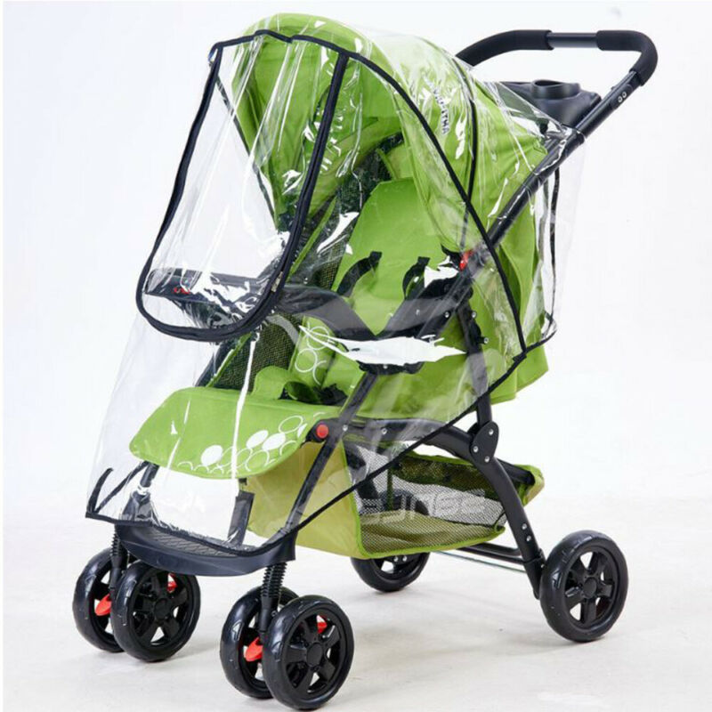 Universal Baby Pushchair Stroller Raincover Clear Rain Cover Pram Buggy w Window 2