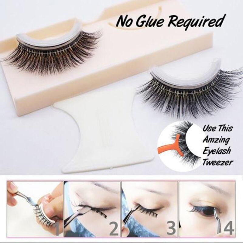 3D Reusable No Glue False Eyelashes Self Adhesive Cosmetics Lashes Extension- 4
