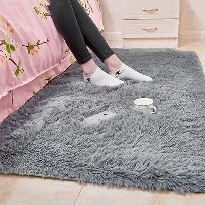 HOT Fluffy Rugs Anti-Skid Shaggy Area Rug Dining Room Carpet Floor Mat 4
