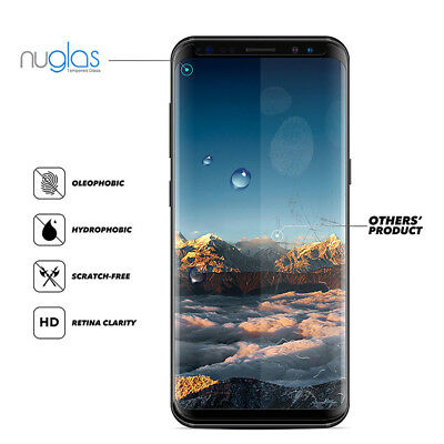 Samsung Galaxy S9 S8 Plus Note 9 8 NUGLAS Tempered Glass Full Screen Protector 5