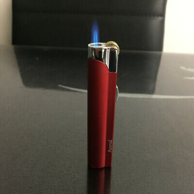 AOMAI Jet Torch Lockable Flame flint wheel ignition Cigar Cigarette Lighter Red 9