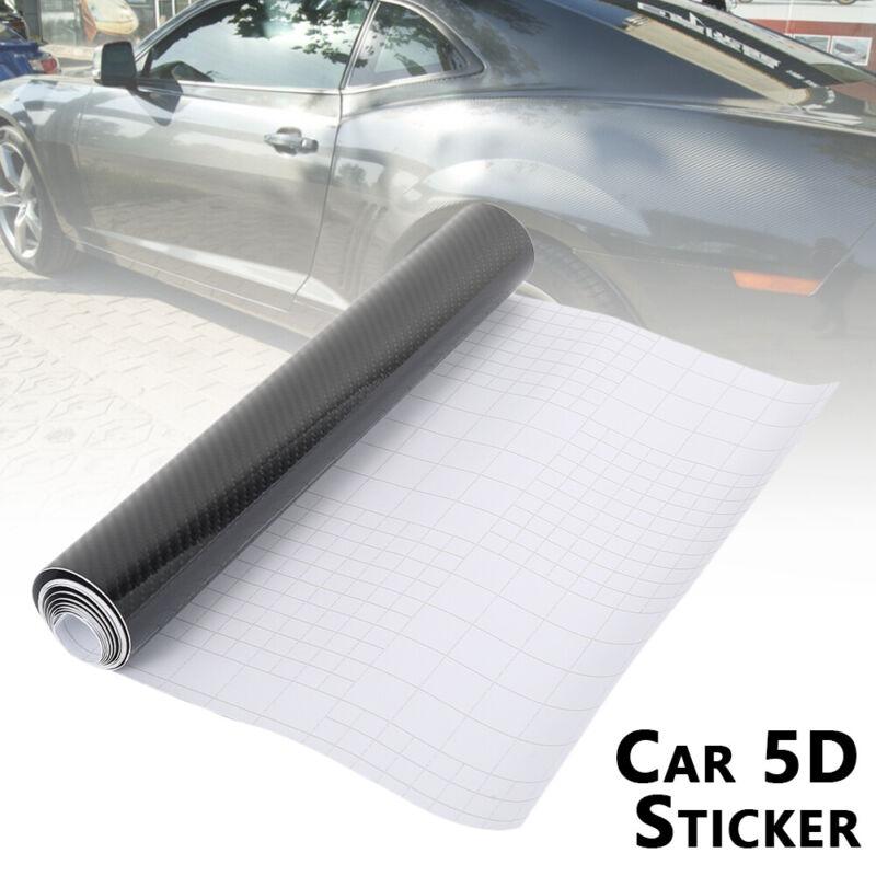 UK Black Carbon Fibre Vinyl Wrap Film Car Sticker 2m X 400mm Air//Bubble Free