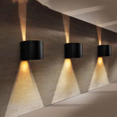 APPLIQUE LED CUBO LAMPADA DA PARETE 6-12W LUCE REGOLABILE BIEMISSIONE IP65 curvo