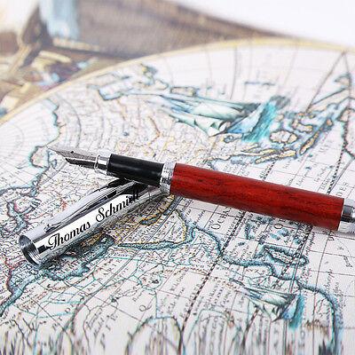 Schreibset Juist Wunschgravur mit Geschenkbox aus Holz braun inkl