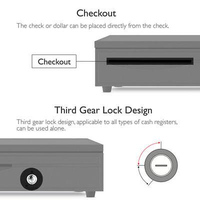 Electronic/Manual Security Lockable Cash Box Tray Money Drawer Safe Storage Keys 4