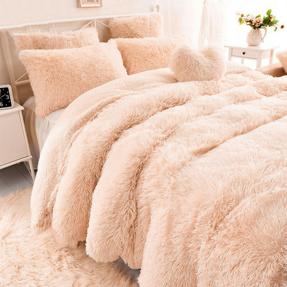 Faux Fur Blanket Long Pile Throw Sofa Bed Super Soft Warm Shaggy Cover Luxury 3