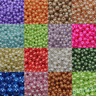 Wholesale Acrylic Pearl Round Spacer Loose Beads DIY 4mm/6mm/8mm/10mm/12mm 2