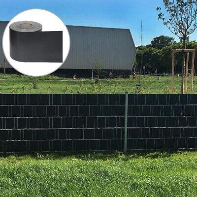 PVC Sichtschutzstreifen Sichtschutz Zaunfolie Doppelstabmatten Anthrazit bis 70m