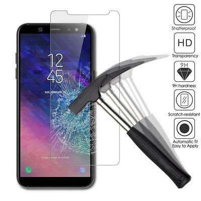 VERRE SAMSUNG A6 Plus A7 A8 A9 2018 FILM PROTECTION VERRE TREMPE ECRAN LOT1/4 3