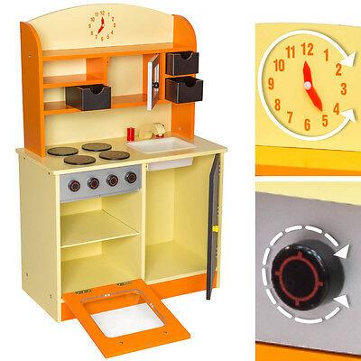 Juguete Para De Madera Niños Naranja Juego Cocina Toy Rol CoxBrWde