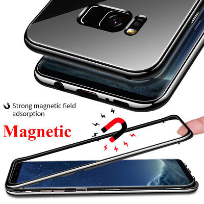 For Samsung Galaxy S7Edge/S10 S9 Plus Note10 360 Magnetic Case TemperGlass Cover 2